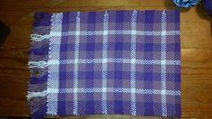 Warp: purple, lilac, and white yarns Weft: same 100% cotton