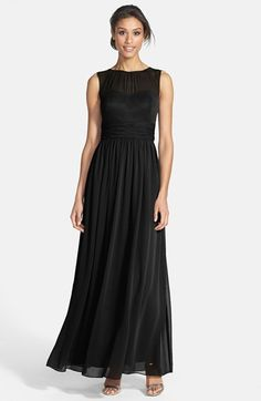 Eliza J Illusion Yoke Chiffon Gown available at #Nordstrom