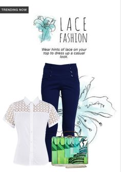 Exclusive Look by lidia Pink Tops, Blue Tops, Scrapbook App, Red Trousers, Blue Clutch, Online Shopping For Women, Trending Now, Fashion Wear, Casual Looks