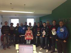 The Ridge London Office taking part in Christmas Jumper Day 2014