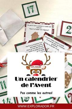Bons à télécharger pour calendrier de lavent immatériel, jeux et étiquettes #calendrier #avent #printable