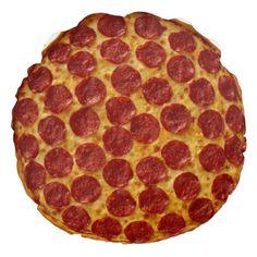 Pepperoni Pizza Round food throw Pillow