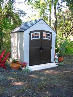 Need a place to store your lawn mower, power tools, and gardening supplies? A resin storage shed could be just what you need. This 7 x 7ft. option gets great reviews from our customers!