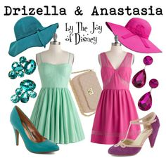 Outfits inspired by Drizella and Anastasia, the evil stepsisters of Cinderella!