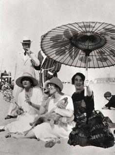 Chanel, Sert and Berthelot at the Lido, 1925