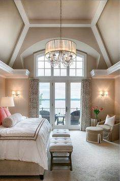 NICE NEUTRALS,AMAZING CEILING,SMALL OUTDOOR SEATING.. LARGE BEAUTIFUL BEDROOM!!! South Shore Decorating Blog:
