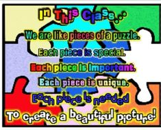 Back to School Team Building Puzzle Project and Writing Prompt