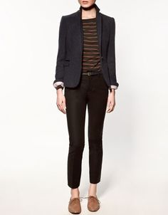 CHECKED BLAZER WITH ELBOW PATCHES - Collection - Blazers - Collection - Woman - ZARA United States - StyleSays