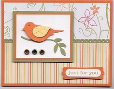 Sunny Garden Two-Step bird card by Julie Bug - Cards and Paper Crafts at Splitcoaststampers