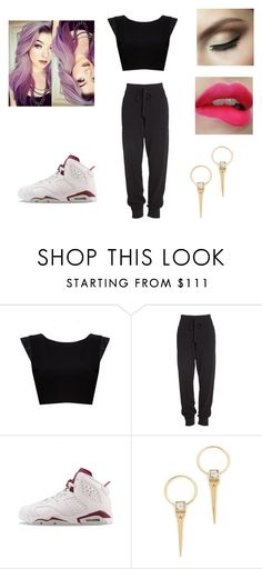 """""""Untitled #160"""" by ilovejustinbieber189 ❤ liked on Polyvore featuring Alice + Olivia, Donna Karan, NIKE and Alexis Bittar"""