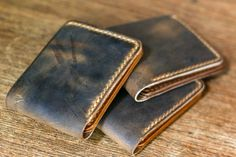 Traditional Bifold Wallet in Brown Crazyhorse Vintage Leather Belt Pouch, Leather Bifold Wallet, Best Wallet, Long Wallet, Custom Leather, Vintage Leather, Leather Craft, Etsy Vintage, Brown