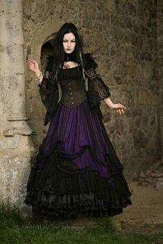 Ella Amethyst  Trev Wordley Photography. Bolero: RQBL, Skirt: Sinister, and necklace: Alchemy Gothic from The Gothic Shop - www.the-gothic-shop.co.uk <3