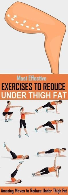 Fitness Motivation : Description 8 Best Exercises to Reduce Under Thigh Fat – stylecrown.us-The under Thigh fat at is a common problem nowadays. Being busy in sitting job, people face increase in the unwanted fat on lower part […] Fitness Workouts, Sport Fitness, Easy Workouts, Fitness Diet, Yoga Fitness, At Home Workouts, Fitness Motivation, Health Fitness, Fat Workout
