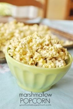Marshmallow Popcorn is made from microwave popcorn and may be slightly addicting!