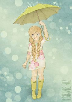 enjoy rain by carivna , via Behance