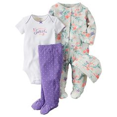 Carters Baby Girls 4 Piece Layette Set Baby Daddys Sweet GirlPreemie * To view further for this item, visit the image link. Baby Outfits, Kids Outfits, Baby Girl Fashion, Kids Fashion, Little Babies, Baby Kids, Oakley, Baby Bath Time, Carters Baby Girl