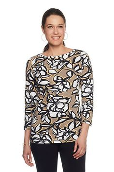 Shop our lively selection of Ruby Rd Missy tops. A variety of styles for all occasions including: sharkbite hem tops, bell sleeve tops, embellished tops, blouses, tees and shirts. Bell Sleeves, Bell Sleeve Top, Embellished Top, Tees, Shirts, Floral Prints, Printed, Blouse, Shopping