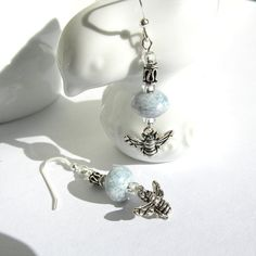 Bee Earrings by KatieBugCreations4U on Etsy