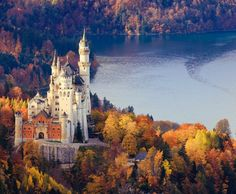 Neuschwanstein Castle, Bavaria, Germany..One of may favorite places in Germany.