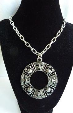 """Vintage Sarah Coventry Zodiac Crab """"Talisman of Love""""  Necklace"""