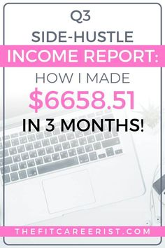 I'm really excited to share my side-hustle income report with you because although I fell short on a few (read: all) of my goals, I still made a. Make Money Online, How To Make Money, Writing Portfolio, Multiple Streams Of Income, Article Writing, Be Your Own Boss, 3 Months, Making Ideas, Hustle