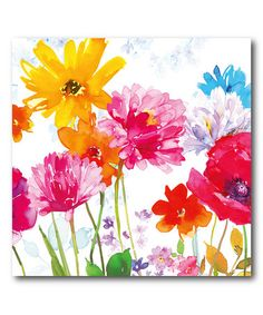 Another great find on #zulily! Bright Floral Frenzy Gallery-Wrapped Canvas #zulilyfinds