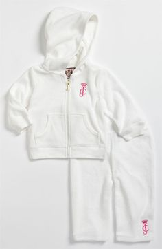 Juicy Couture Hoodie & Pants Set (Infant) available at Nordstrom