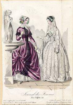 "eighteenfortyseven: "" Bridal Fashion Plates, 1847 """