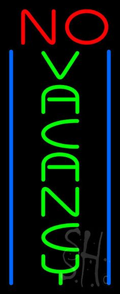 Red No Vacancy Green with Blue Lines Neon Sign 32 Tall x 13 Wide x 3 Deep, is 100% Handcrafted with Real Glass Tube Neon Sign. !!! Made in USA !!!  Colors on the sign are Blue, Red and Green. Red No Vacancy Green with Blue Lines Neon Sign is high impact, eye catching, real glass tube neon sign. This characteristic glow can attract customers like nothing else, virtually burning your identity into the minds of potential and future customers.