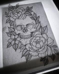 Skull Tattoo • • • Follow now & Pin  Kel Thomson.