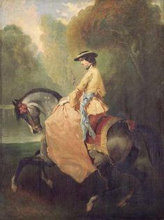 In the Swan's Shadow: Unidentified Portrait, Alfred de Dreux, bef. 1860.
