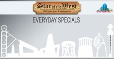 Lunch Specials @ Star of the West Lunch Specials, Drink Specials, Chocolate Sponge, Chocolate Truffles, Restaurant Specials, R80, City Restaurants, Eat Lunch, Portal