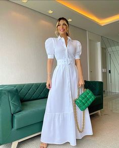 Dress Shirts For Women, Summer Dresses For Women, Clothes For Women, Maxi Dress With Sleeves, Short Sleeve Dresses, Shirt Dress, Maxi Dresses, Long Sleeve, Trend Fashion
