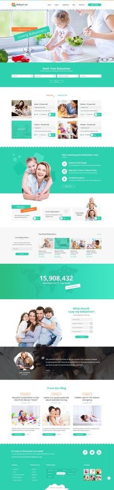 Buy Babysitters Jobs Directory Babysitting Html Template By Digisamaritan On Themeforest Babysitters Is The Perfect Html Template For Your Next Child