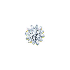 """Jewelcology - GET 0.15CTW DIAMOND  CLUSTER EARRINGS (""""GND-18350""""), $199.00 (http://jewelcology.com/get-0-15ctw-diamond-cluster-earrings-gnd-18350/)"""