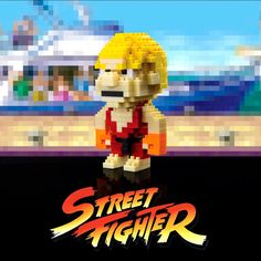 Puzzle 3D Street Fighter Ken 8 bits