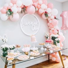 """1,377 Likes, 23 Comments - S u g a r C o a t e d M a m a (@sugarcoatedmama) on Instagram: """"Peach and silver baby shower is such a delight by @designplanplay"""""""