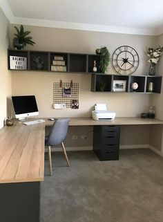 49 Trendy Home Office Design Inspiration Workspaces Desk Areas Home Office Space, Home Office Design, Home Office Decor, Home Design, Office Workspace, Office Spaces, Small Office, Office Bookshelves, Loft Office
