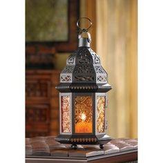 Moroccan Metalwork Hanging Candleholder Lantern