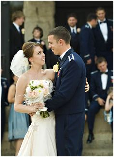 Air Force Wedding- haha, imagine my surprise finding this picture of my brother and SIL popping up out of nowhere on Pinterest!