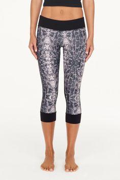 0126294bd018d1 Jala Clothing - SUP Yoga Capri - Black / Python - - Juja Active Sup Yoga