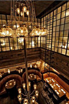#atmosphere #lighting Restaurant designed by Avro|KO