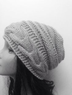 480632458d2fb3 Gray Hat Beanie Hat Loose Hat Women's hat by SongulDesigns, $30.00 Grey Hat,  Beanie
