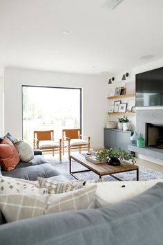 Bright, coastal living room   Studio McGee Rangeview Reno Pt. 2
