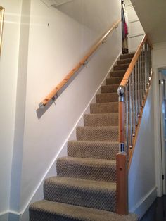 Considering wooden stairs. Maybe using the wood from the floor when I replace with carpet - would be nice to know the new contains the old!