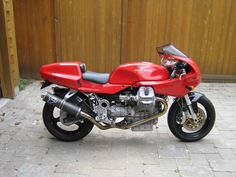 My 1993 Moto Guzzi Daytona. Had to sell this bike because it was costing me too much money in dental work. It kept shaking my fillings loose.