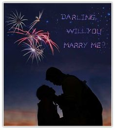 If you want to go all out, you can have proposal fireworks made for the real WOW factor
