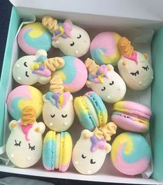 Unicorn Party Food Unicorn Macaroons