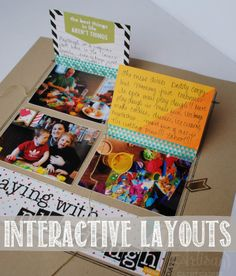 Project Life Interactive Layouts | AWW by Cathy Caines @Stampin' Up!