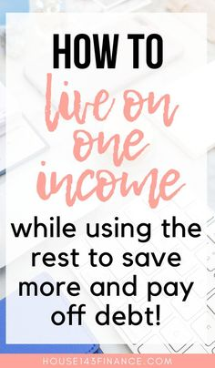 Learn how to live one income with these tips and tricks for living a more frugal lifestyle. PIN ME for tips about how to save money and budget while living on one income. Ways To Save Money, Money Tips, Money Saving Tips, How To Make Money, Money Hacks, Tips And Tricks, Frugal Living Tips, Frugal Tips, Budget Planer